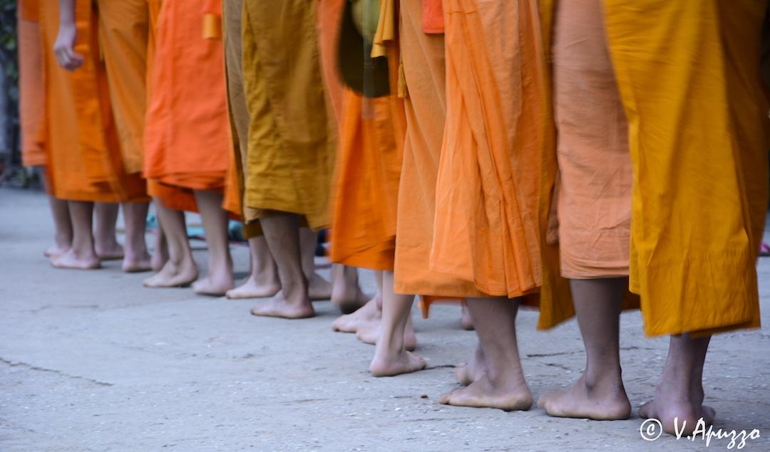 Street monks In Laos